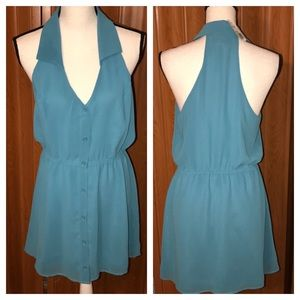 Forever 21 Rory Beca Dusty Blue Dress